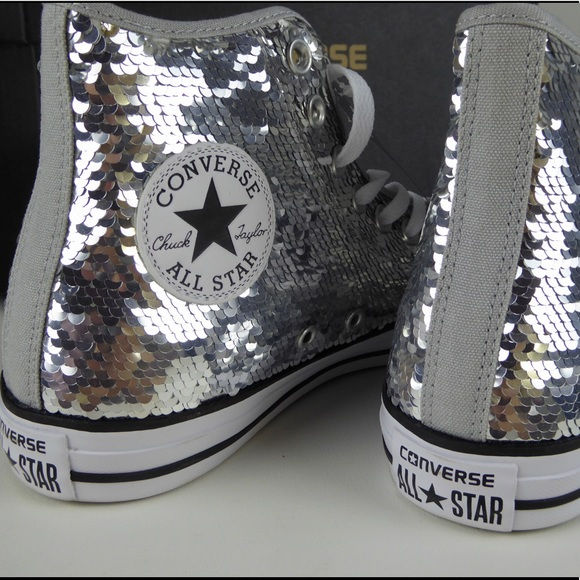 Converse Shoes | Converse Silver Sequin